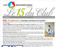 Bulletin 15 du Club N° 87